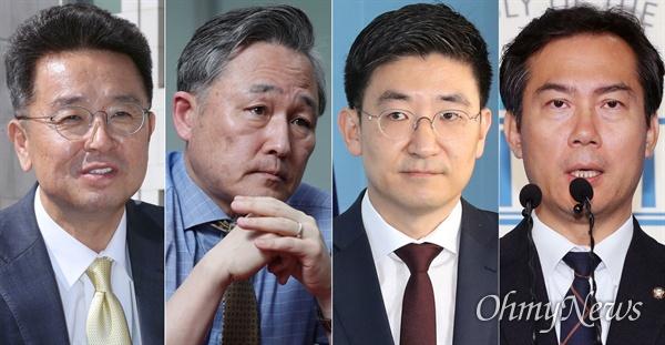 21대 총선 불출마를 선언한 여야 의원들. 왼쪽부터 이철희, 표창원 더불어민주당 의원, 김세연, 김영우 자유한국당 의원.