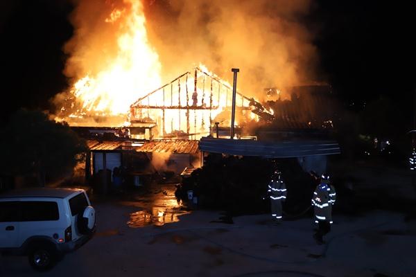 거창 웅양면 주택 화재.