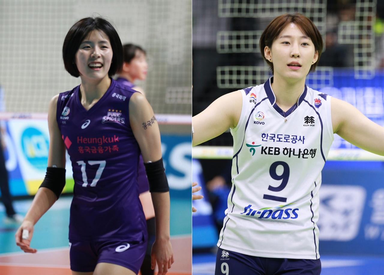 여자배구 대표팀, 이재영(왼쪽)-박정아 선수
