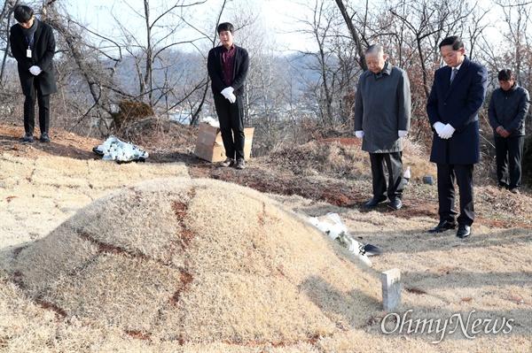 3·1운동 100주년을 맞아 지역 내 일제강점기 유적에 대한 조사 계획을 밝혔던 고양시는 올 초 화전동 공동묘지에서 일제강점기 일본기업 하자마구미㈜에 의해 강제 이장된 합장 묘역과 묘비석을 확인했다. 현재까지 국내에서 발견된 일본 전범기업의 합장 묘역과 비석은 이곳이 유일하다.