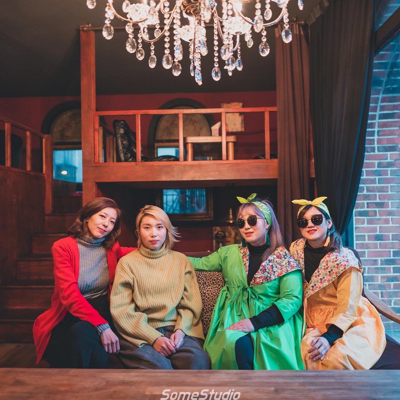 좌측부터 '트레봉봉' 김하늘, 김도연, '미미시스터즈' 큰 미미, 작은 미미.