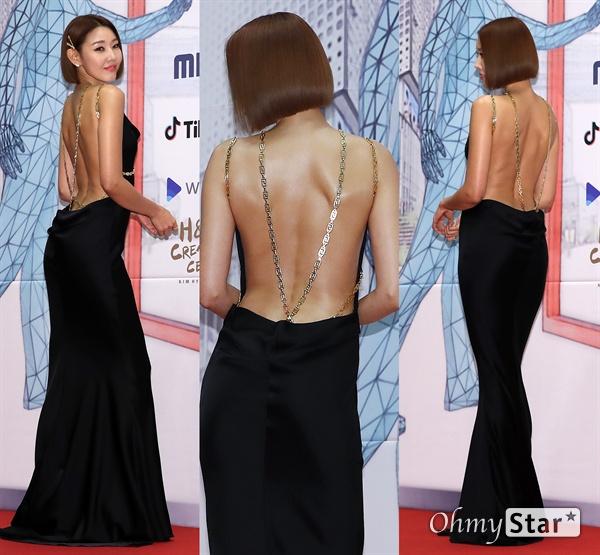 'MBC 연기대상' 한혜진, 아름다움의 표본 30일 오후 서울 상암동 MBC에서 열린 <2019 MBC 연기대상> 포토월에서 사히자인 한혜진이 포토타임을 갖고 있다.