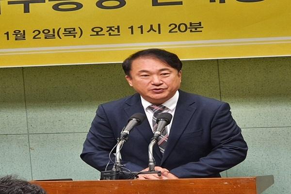 정의당 권태홍 사무총장이 2일, 전북도의회에서 기자회견을 열어 21대 총선에서 익산을 선거구에 출마하겠다고 선언했다.