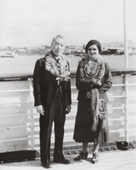 뉴욕에서 결혼식을 마친 후 하와이로 돌아온 이승만 프란체스카 부부(1934.).