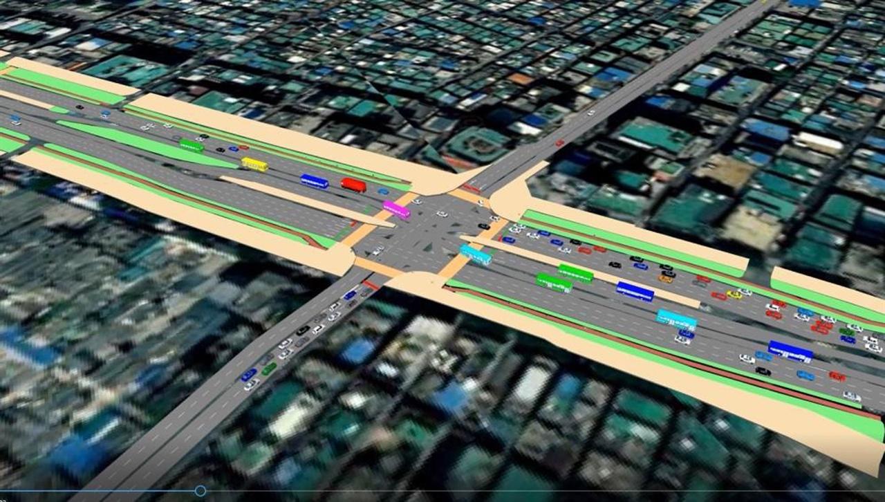 대중교통과-성남 산성대로 S-BRT 시범사업 구간 모식도(시뮬레이션)