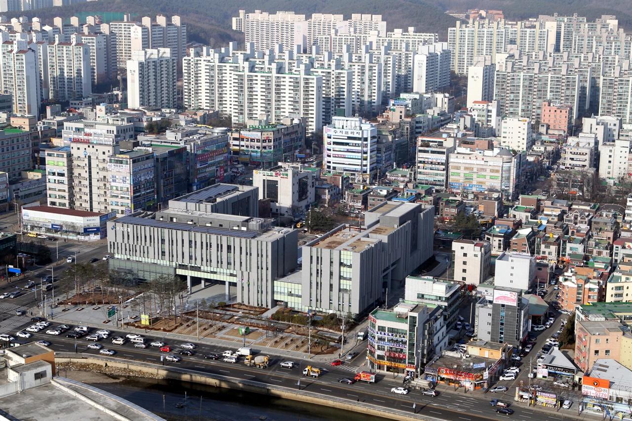 경기 용인시 수지구 중심지역 일대 전경