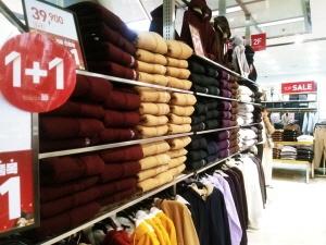 겨울옷 매장