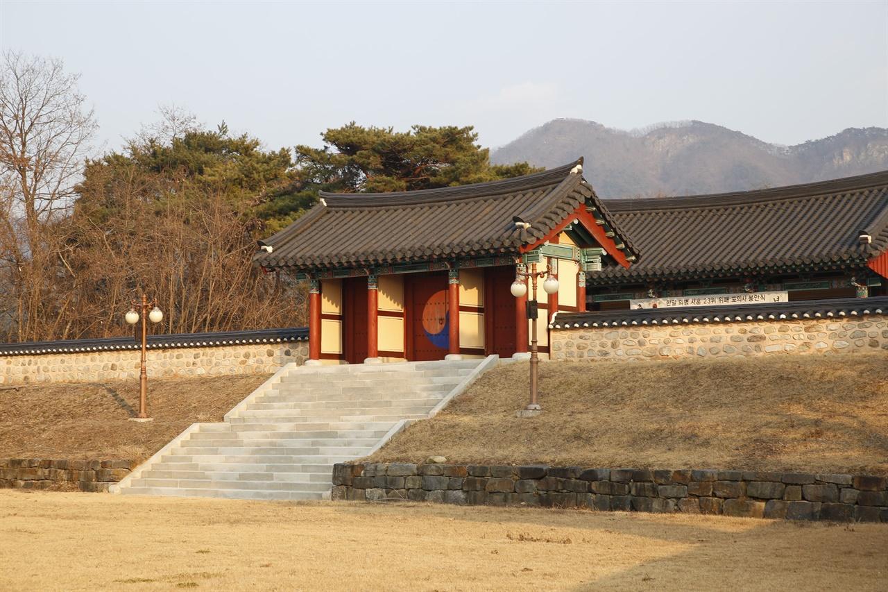 녹천 고광순 사당. 기념관과 사당으로 이뤄져 있다. 담양 유천마을에 있다.