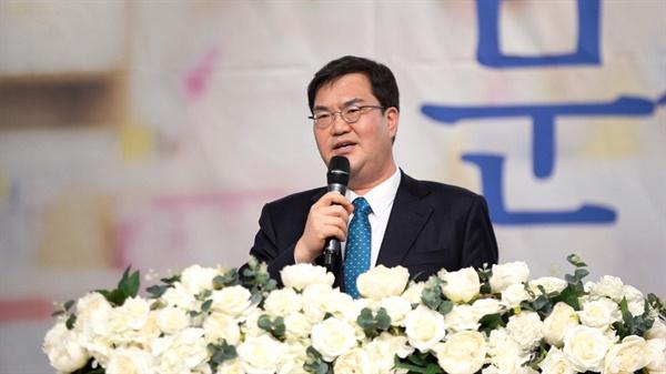 의정부갑 출마 의사를 밝힌 문석균 예비후보.