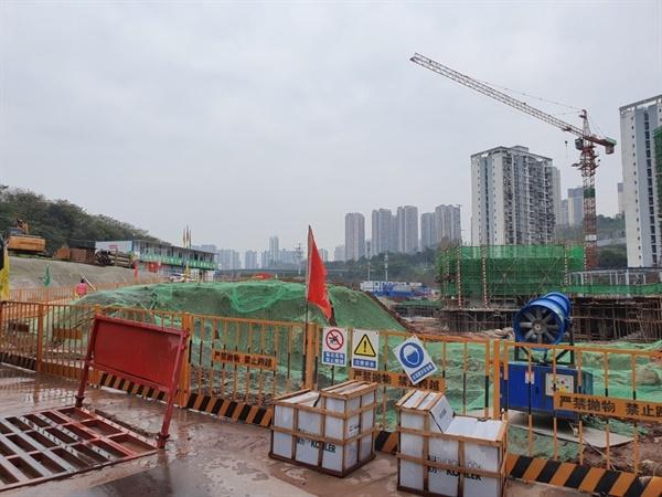공사장으로 변한 화상산 한인묘지 일대 2