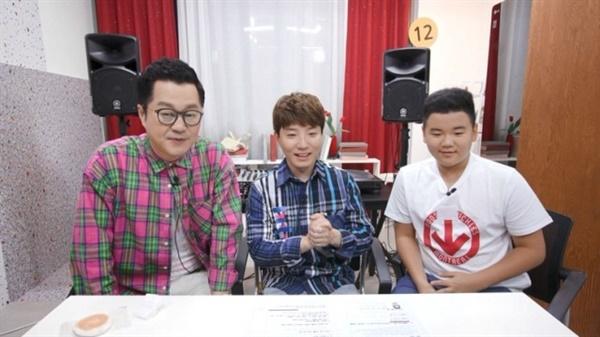 MBC <마이리틀텔레비전V2>의 한 장면.  어린이 전문 인터넷 크리에이터로 유명한 도티(사진 중앙)는 MCN 업체 샌드박스의 공동 설립자이기도 하다.