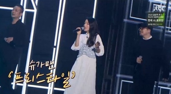 지난 17일 방영한 JTBC <투유 프로젝트-슈가맨3>에서 16년 만에 처음으로 'Y' 완전체 무대를 선사한 프리스타일과 정희경