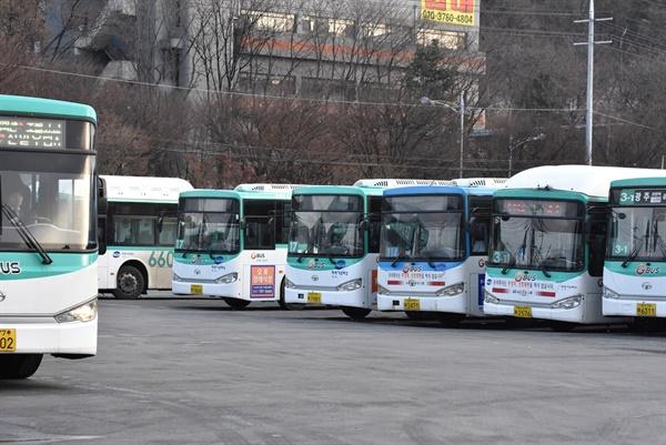 경기도 버스 차고지 모습