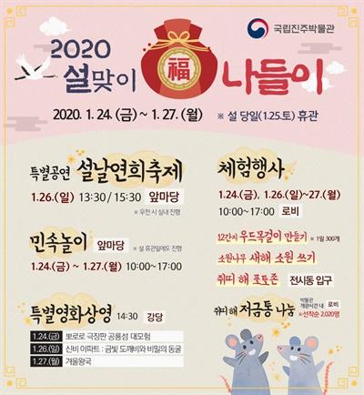 국립진주박물관 '2020 설맞이 복(福)나들이'.