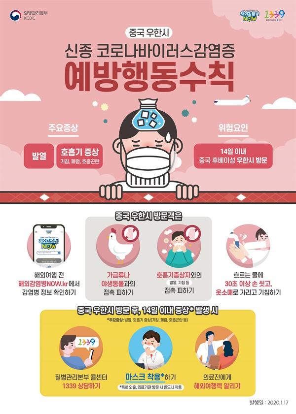 신종-코로나바이러스 예방수칙 포스터