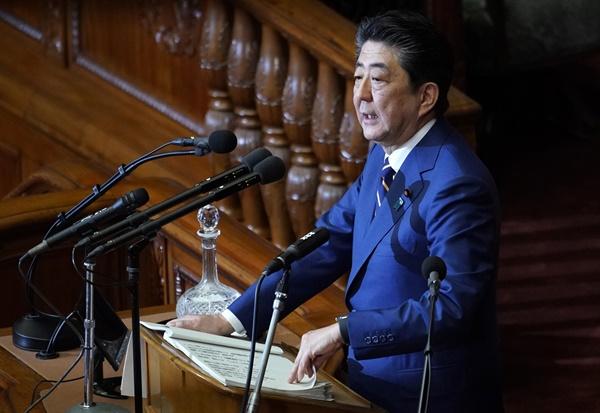아베신조 일본 총리.