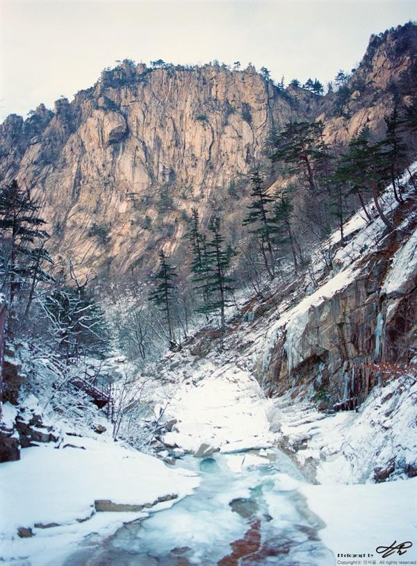 눈과 절벽 (645N/Portra400)전형적인 설악산의 풍경