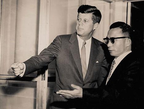 케네디 박정희 한미정상회담 장면(1961. 11. 14.).