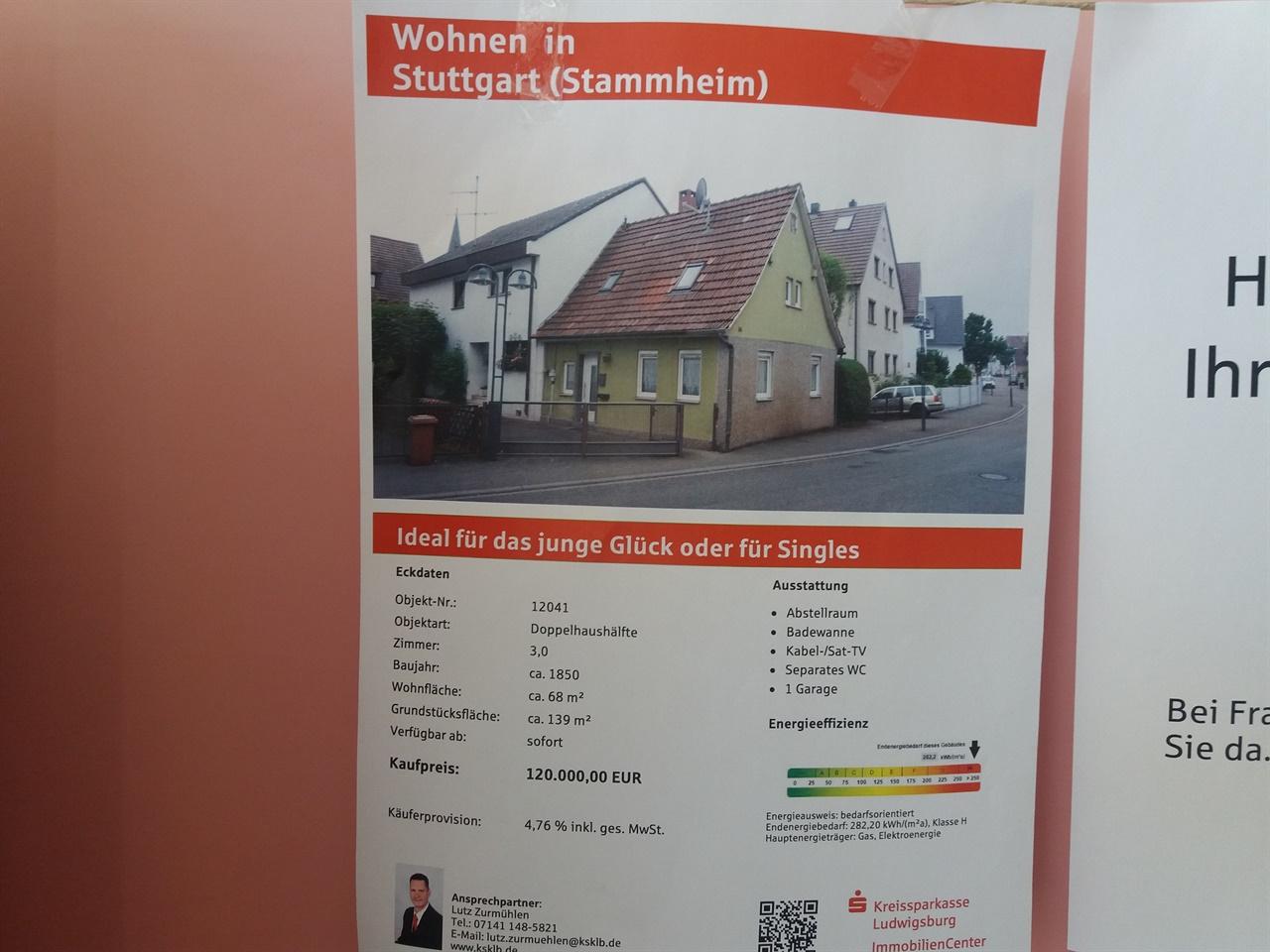 1850년에 지어진 독일 집의 매물 광고