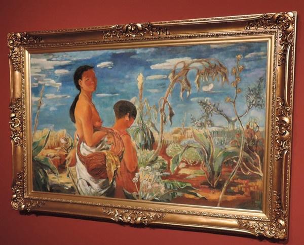 이인성 I '가을 어느 날' 캔버스에 유화 96×161.4cm 1934.