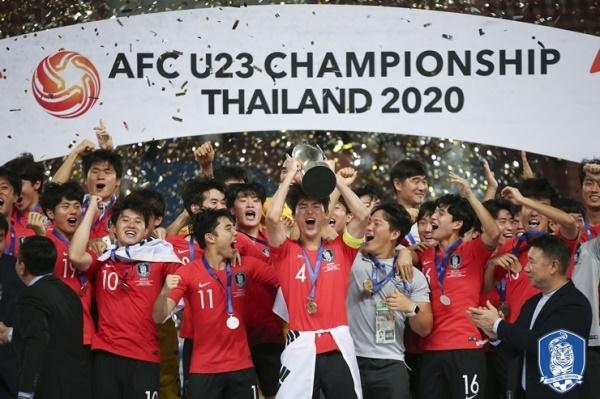 한국 올림픽대표팀 김학범 감독이 이끄는 한국 23세 이하 축구 대표팀은 2020 아시아축구연맹(AFC) U-23 챔피언십에서 우승을 차지했다.