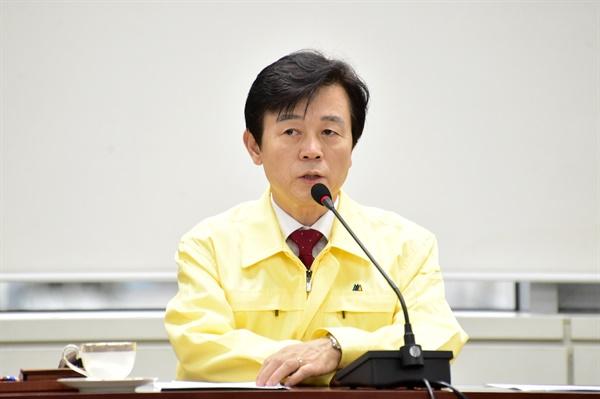 조규일 진주시장은 28일 오전 '신종 코로나 바이러스 감염증' 대책회의를 주재했다.
