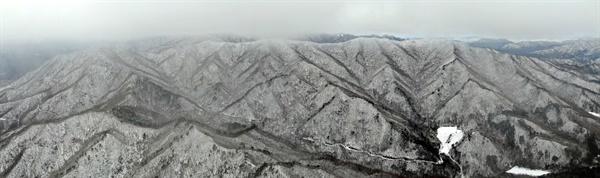 1월 28일 남덕유산의 눈.