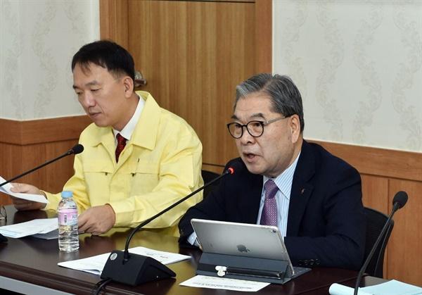 이재정 경기도교육감 대책회의 모습