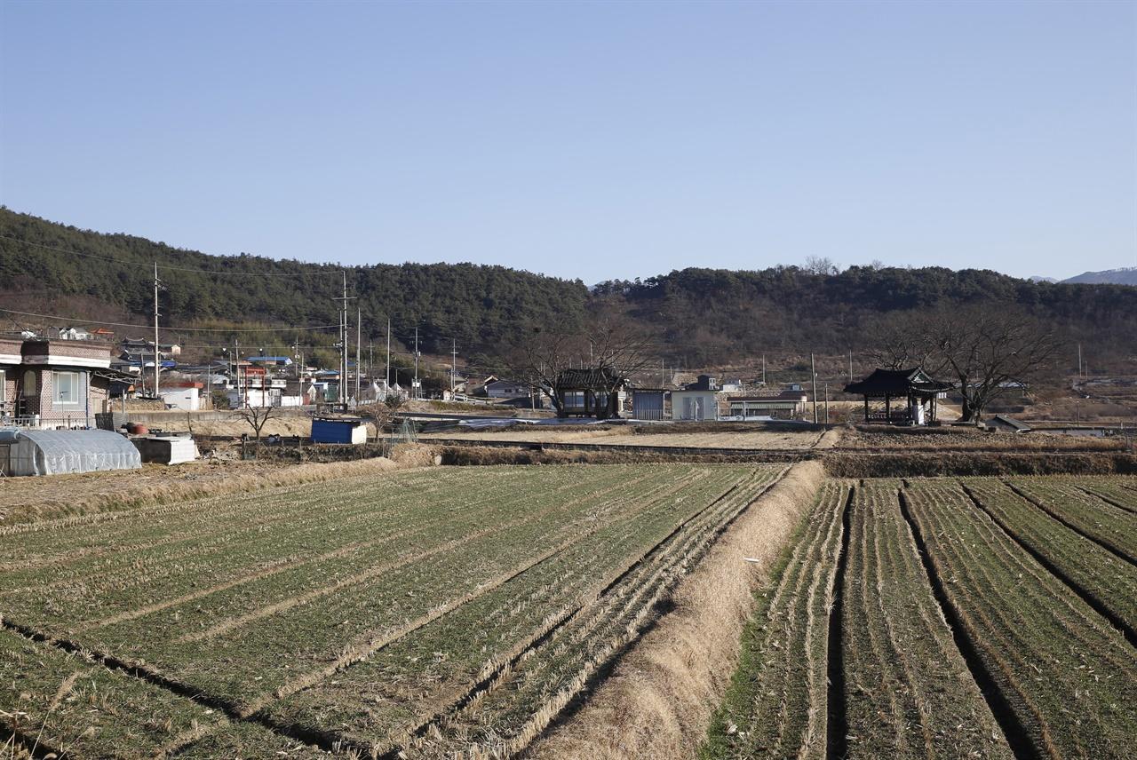 상사마을과 나란히 자리한 하사마을 풍경. 지리산을 끼고 있는 전형적인 농촌이고 산촌이다.