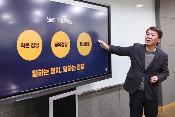 안철수 전 의원이 2일 오전 서울 여의도 국회 의원회관에서 열린 정치혁신 언론인 간담회에서 신당 추진 계획을 발표하고 있다.