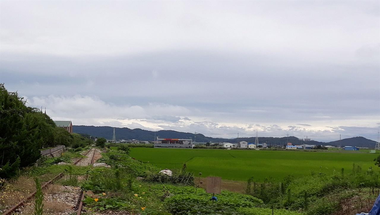군산전북대병원이 들어설 군산시 사정동 일대(2018년 여름 촬영)
