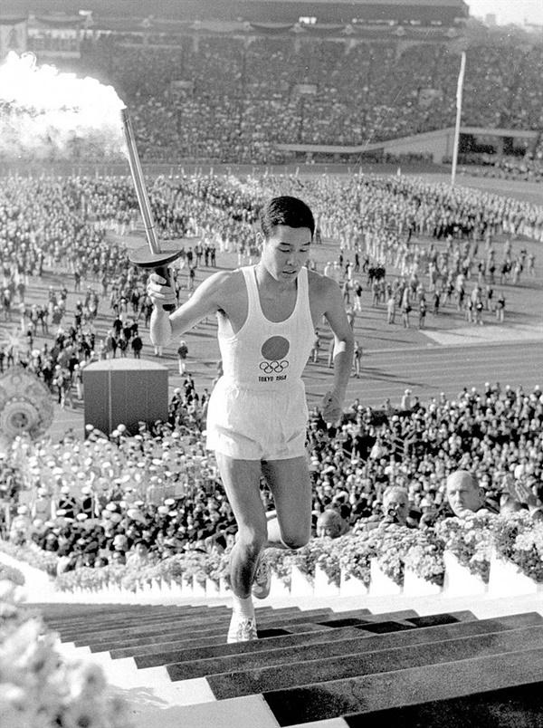 1964년 도쿄올림픽 마지막 성화봉송 주자 사카이 요시노리