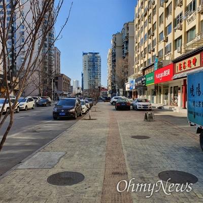 중국 칭다오시 거리 모습