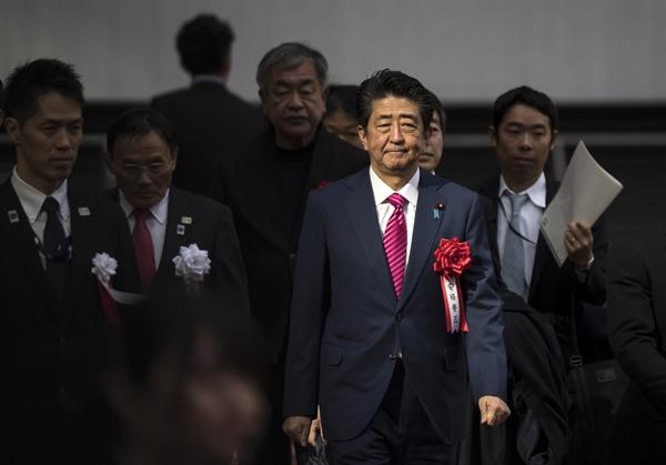 도쿄올림픽 주경기장 준공식 참석한 아베 총리