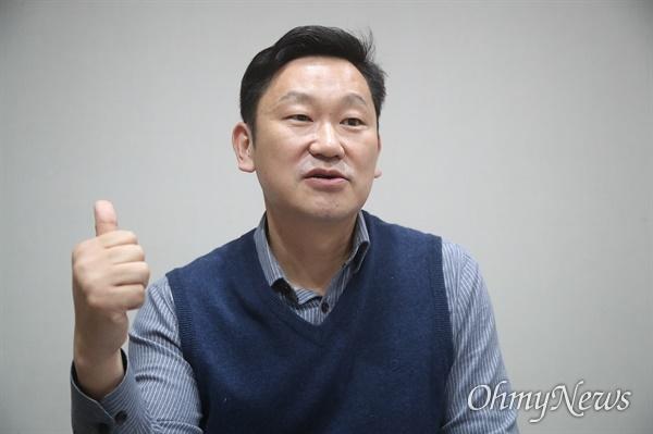 충북 보은·옥천·영동·괴산에 더불어민주당 예비후보로 출마한 곽상언 변호사.