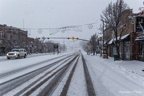 세다 시티의 설경 세다는 겨울이면 눈이 많기로 이름나 있다. 인근에 세다 브레이크스 준 국립공원이 있고, 근처 브라이언 헤드에는 스키장도 있다.