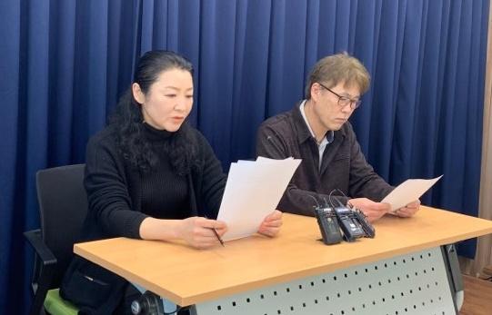 11일 '강릉시민행동'은 기자회견을 통해 김한근 시장이 발표한 마블파크 사업은 대시민 사기극이고 김 시장은 공범이라고 비판했다.