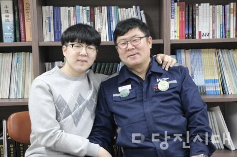 아버지 신우영 씨와 아들 신동국 학생
