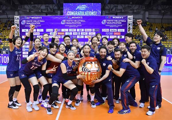 여자배구 대표팀, 2020 도쿄 올림픽 티켓 획득... 3회 연속 올림픽 출전 '금자탑'