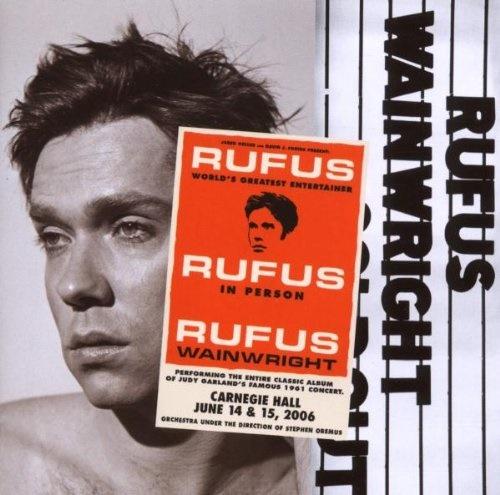 루퍼스 웨인라이트의 'Rufus Does Judy at Carnegie Hall' 표지. 영화 '주디' OST에도 참여한 그는 주디 갈란드의 열혈 팬이기도 하다.