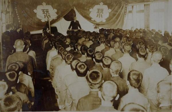 1940년 완월초등학교 졸업식.