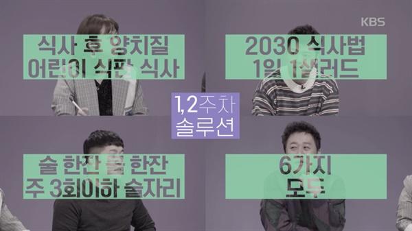 지난 13일 방영한 KBS2 <해피투게더4> '아무튼 한달-건강한 바디디자인'