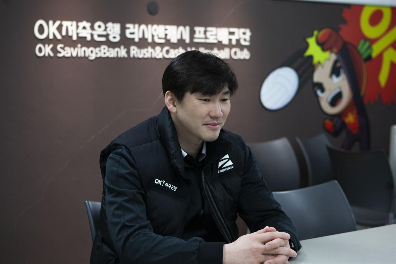 """석진욱 감독은 """"좋은 선수가 되려면 '내가 어떻게 하면 발전이 될까'를 끊임없이 준비하고 생각해야 된다""""고 말했다."""