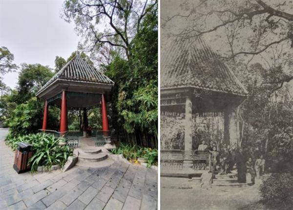 지금의 음악정(左)과 1930년대 당시 음악정(右)의 모습 비교