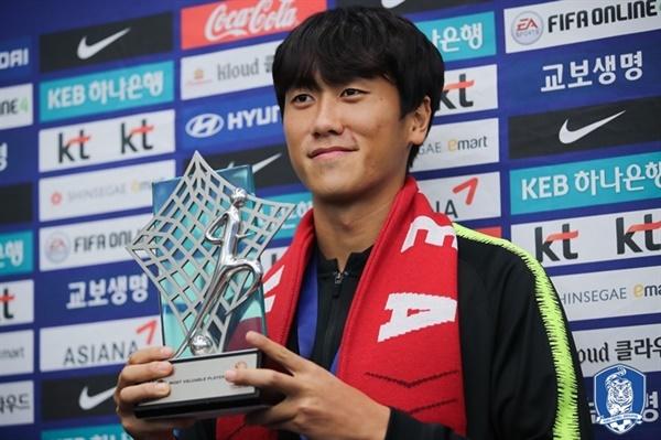 AFC U23 챔피언십에서 MVP를 차지한 원두재.