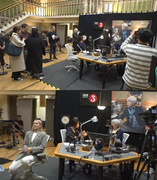지난 17일 영국 BBC 현지 생방송으로 진행된 '배철수의 음악캠프'엔 팝스타 앤 마리가 출연해 관심을 모았다. (인터넷 중계 화면 캡쳐)