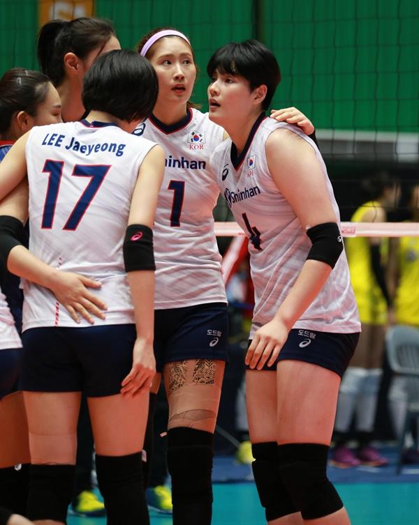 대표팀에서 김희진 경기 모습(맨 오른쪽)