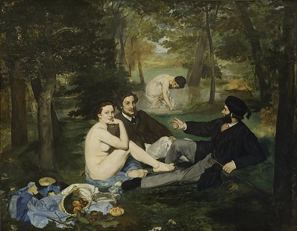풀밭 위의 점심(1863) 마네 Source: Wikimedia Commons
