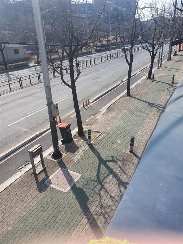 대구 북구 산격동 경북대 캠퍼스 주변 거리 모습 . (사진제공 : 한아름)