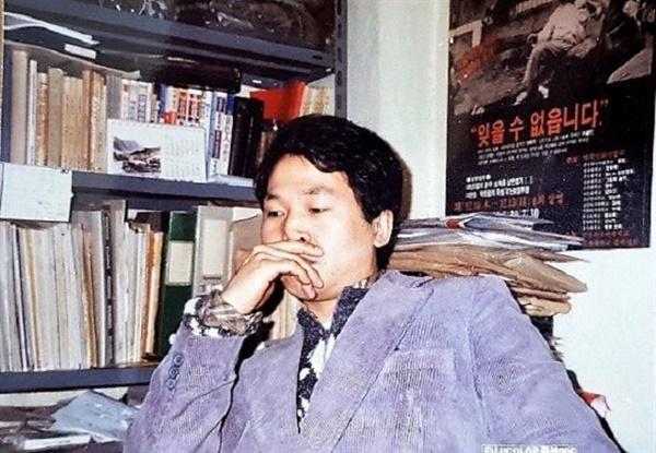 영화마당우리 초기 회원으로 80년대 이후 독립영화 교육을 꾸준히 이어오고 있는 낭희섭 독립영화협의회 대표의 청년 시절 모습